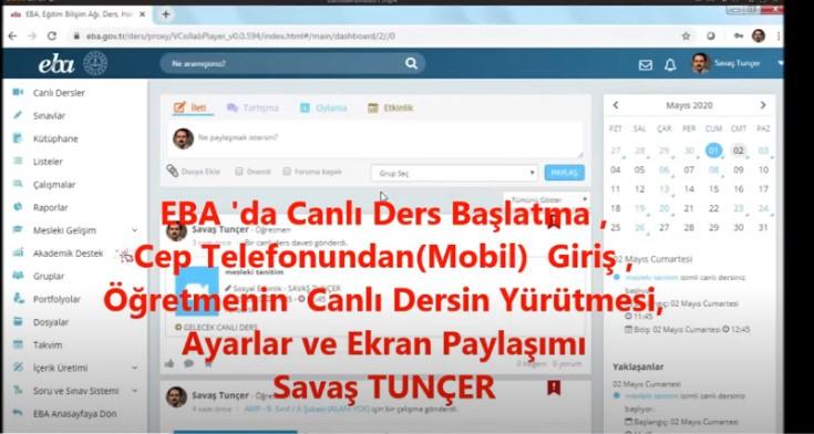 EBA Live Lesson Launch, Mobile (Mobile) Login, Teacher's Lesson Execution, Settings, Screen Sharing