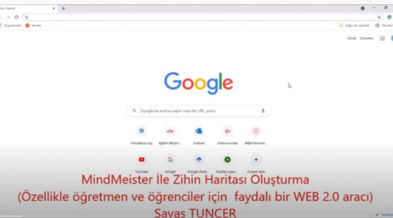 MindMeister İle Zihin Haritası Oluşturma Uygulaması (Yararlı Bir WEB 2 0 Aracı )
